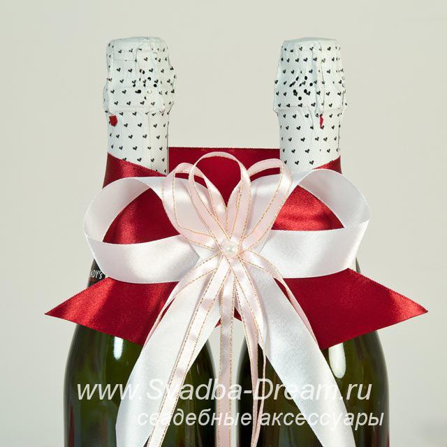 Бант для свадебного шампанского