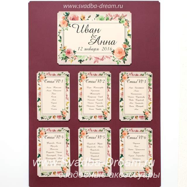 Рассадка гостей на свадьбу онлайн