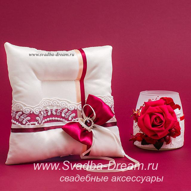 Подушка для колец на свадьбу размеры