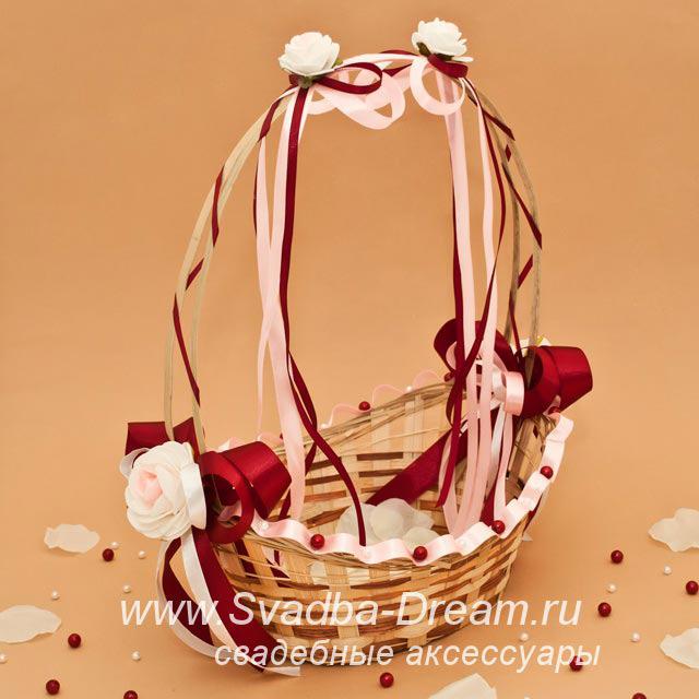 Корзина для подарков на свадьбе 36