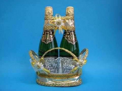 Корзины для шампанского своими руками