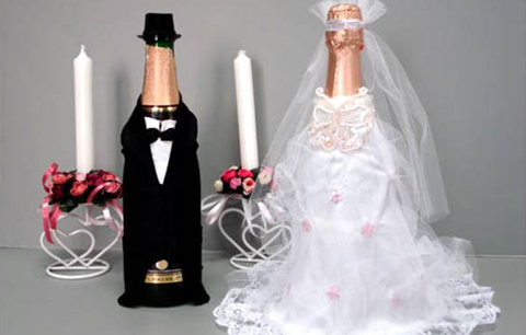 Декор шампанского свадьбу